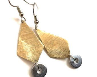 Brass Dangel Earrings Handmade Hardware Jewelry