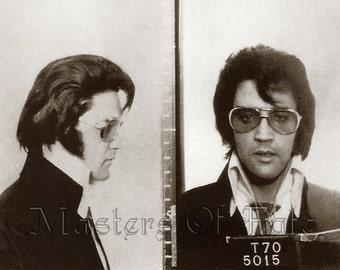 REMASTERED Elvis Presley Mugshot Poster Print Photograph (with or without Frame) Various Sizes