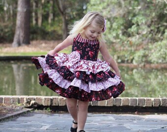 Little Girl Ruffle Dress - Baby Dress - Toddler Girl Clothes - Special Occasion - Party Dress - Boutique Girl Dresses - 6 mon...