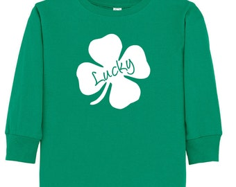 Lucky- St. Patrick's Day Long Sleeve T-shirt for toddler/youth
