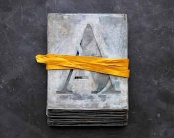 Zinc Alphabet Stencils, French Zinc Stencils, Industrial Letters, Zinc Alphabet Stencils, 4 inch Vintage Stencils, Rustic Wedding Supplies