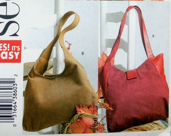 See & Sew 4271 - Easy Sew Lined Handbags, Purses, Totes, Bags - Great Gift Idea - DIY Fashion Accessory - UNCUT Sewing Pattern
