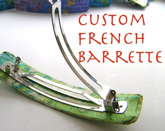 Custom French Barrette- gift boxed