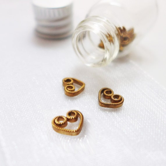 LAST SETS - Jar of Hearts - Micro Sock and Lace Stitch Markers in Vial - Fits Up To 3.0mm (2.5 US) - Limited Edition