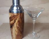 Cocktail Shaker, Handmade Barware, Spalted Crabapple Wood Cocktail Shaker