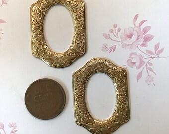 Metal Open Frame Stampings x 2