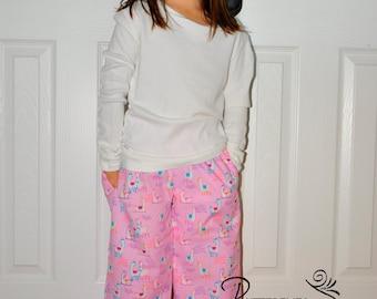 Llama Lounge Pants - Custom Sizes 3 months - 12 years