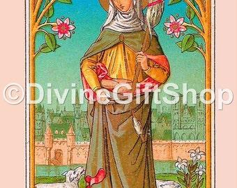 "Icon Prints of Genevieve Three 5"" X 7"" Prints & One 8.5"" X 11"" Print. Gorgeous. Patroness of France."