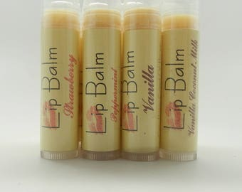 20 Lip Balm - chapstick -your choice of flavors - all natural - vegan -  0.15 oz. each tube/wedding favors, party gifts,shower gifts, kids