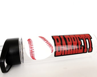 Personalized Baseball Water Bottle, Customize, Back to School, Gift for Boy or Girl, Team Group Bulk Discounts
