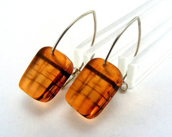 Perspex Drop Earrings - Seaside Pier Drops - Orange dangle earrings - Orange Sunset Earrings - Seaside drop earrings - Acrylic Pier Drops