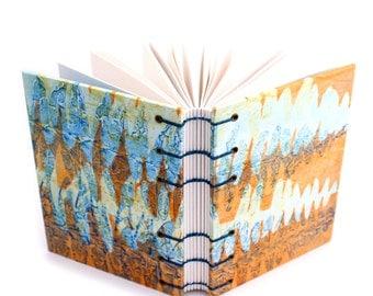 Orange Ferns Journal - handmade by Ruth Bleakley