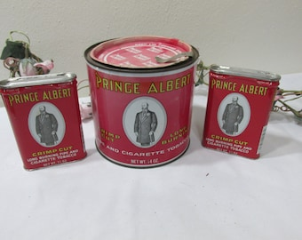 Tobacco Tin Prince Albert Set of 3 cans