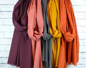 Oversized Frayed Cotton Scarf - Various Colours available