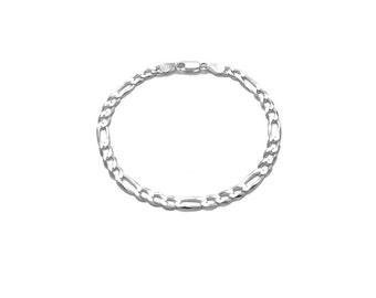 4 Silver Necklaces Figaro 31 Antique