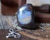 Raw Boulder Opal Pendant
