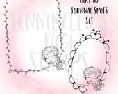 Simple Girl Journal Spots Digi Stamp Set #2 by Jennibellie