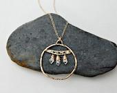 goddess of the forest. herkimer diamond necklace. 14k gold fill. artisan pendant. organic necklace. light body jewelry. chakra jewelry.