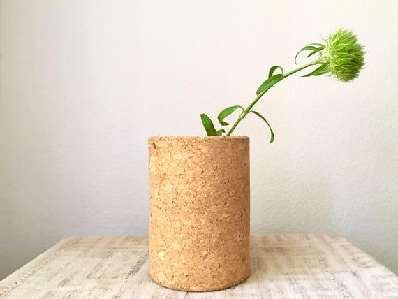 Vintage Mid Century Cork Vase/Pencil Holder