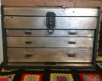 Vintage Industrial Machinist Tool Box Free Shipping