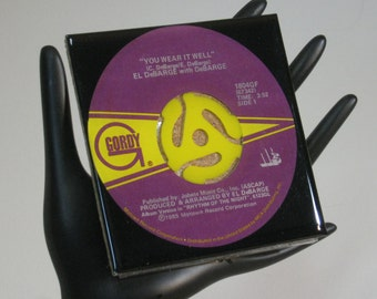 El DeBarge - Very Cool Drink Coaster Made with The Original 45 rpm Record
