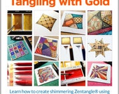 3D Tangle Tangling with Gold - Download PDF Tutorial Ebook