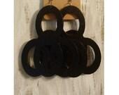 Circular Black mPERFEKtion Earrings - Circular Black mPERFEKtion Earrings - 4-Ringed mPERFEKtion Earrings