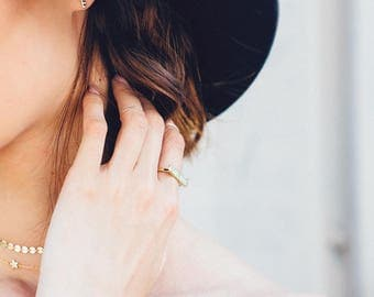 Engraved Ring | Gold Bar Ring | Girl Boss Jewelry | Gold Ring