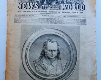 1859 Illustrated News Of The World April 16, 1859
