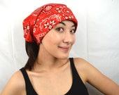 Vintage 60s Striped Bandana Head Scarf Kerchief