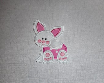Free Shipping Ready to Ship Bunny Machine Embroidery iron on applique