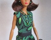 "RESERVED for GERMAINE Silkstone Barbie - OOAK 7 - Pieces ""Green & Black"" - Free Shipping"