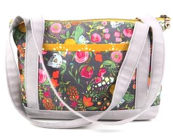 Tablet Tote - Budquette Nightfall - handbag, zipperbag, shoulder bag, ipad tote, kindle tote, purse