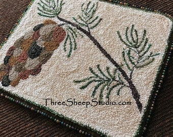 Punch Needle Pattern - Winter Pine - #PN512 - Needlepunch Embroidery