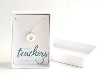 Principal Gift - Teacher Appreciation - Silver Teacher Necklace - Gift to Teacher - Teacher Gift Necklace - Teacher Treat - Teacher Jewelry