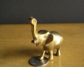 Elephant Brass - Tiniest Vintage Brass Elephant Figurine