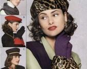 Vogue Stylish Hats & Cuffs Sewing Pattern Size S M L Vogue 8403 UNCUT, Baseball, Beret, Military Cap, Beanie, Roll Brim Fedora, Glove Cuffs