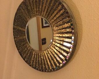 Starburst MOSAIC MIRROR, round Gold Mirror