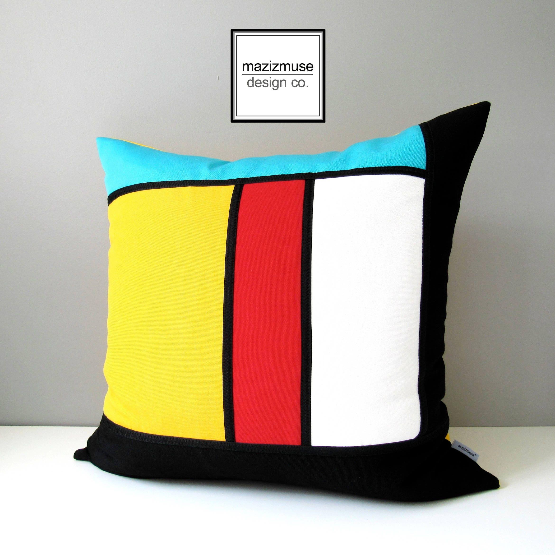 Modern Outdoor Pillow : Modern Outdoor Pillow Cover Decorative Pillow Cover Mondrian