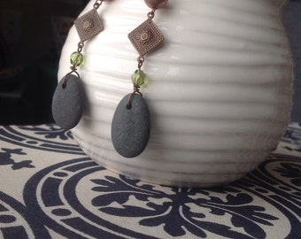 Lake Superior Stone Long Earrings