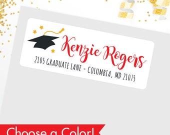 Graduation Address Labels - Glossy Finish - Sheet of 30