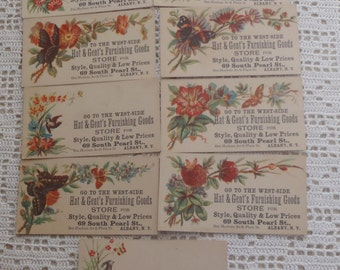 Vintage Business Trade Cards Hat & Gent's Furnishings  Albany N.Y. 9 Pc.