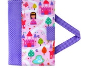 Princess Crayon Artist Case with option to add a name, Valentine gift, Crayon holder, Crayon wallet, Crayons and paper included