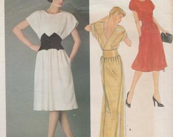 Vogue Paris Original 2563 / Vintage Designer Sewing Pattern By Nina Ricci / Back Wrap Dress / Gown / Size 10