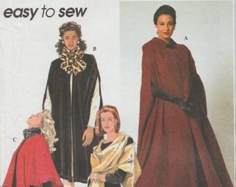 Simplicity 7438 / Vintage Sewing Pattern / Cape Capelet Cloak Wrap
