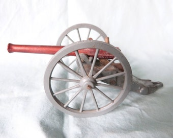 Vintage Toy Soldier Cannon