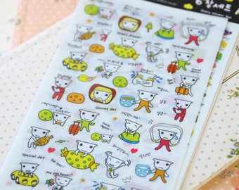 Baby Teddy Bear cartoon Diary Deco Stickers set