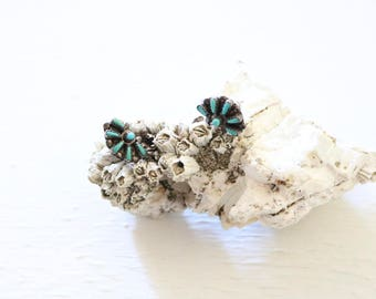 turquoise + sterling zuni earrings