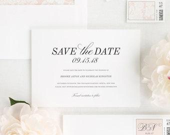 Classic Romance Save the Date - Deposit