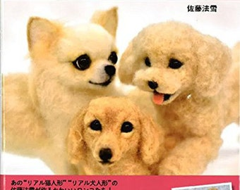 NEEDLE FELT Wool felt Realistic DOGS Vol. 4 - Japanese Craft Book